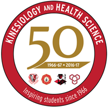 Kinesiology and Health Science 50th Anniversary Logo