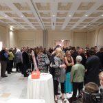 A shot of participants gathered at a banquet