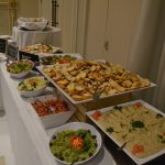 A shot of catered food